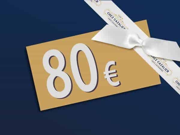 Carte Cadeau Chez Cazalier d'une valeur de 80€