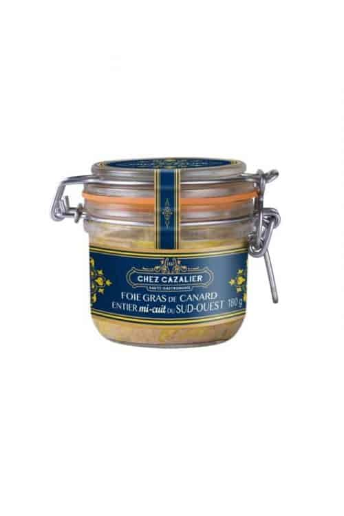 Foie gras de canard entier mi-cuit du sud ouest 180 g