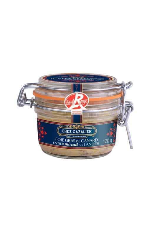 Foie Gras de Canard entier mi-cuit des Landes 120 g