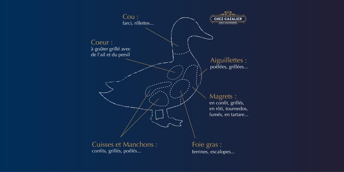 Les morceaux du Canard