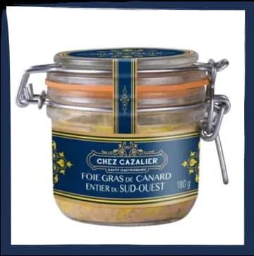 Bocal de 180 grammes de Foie Gras de Canard du Sud Ouest