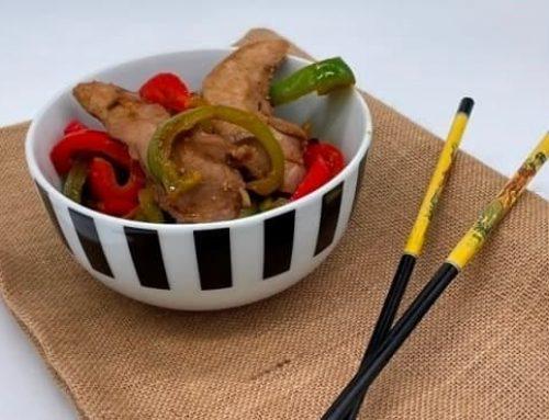 Aiguillettes de canard cuisinées au wok